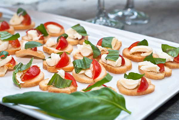 Canapes aspiring catering for Blue cheese canape